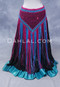 Fuchsia and Turquoise Crocheted Belly Dance Scarf