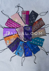 Large Embroidered Zippered Pouch