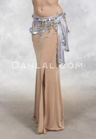 CHAMPAGNE ICE- Minya Glitter Slinky Mermaid Skirt, by Off The Nile