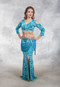 Turquoise Belly Dance Skirt and Top