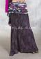 Fuchsia and Silver Glitter on Black Slinky Skirt