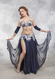 SAPPHIRE LIGHTS- Navy, Silver and Royal Blue, Bra Size B- B/C, by Designer Rising Stars