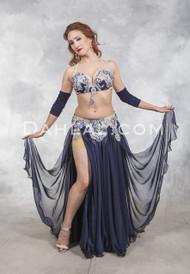 SAPPHIRE LIGHTS- Navy, Silver and Royal Blue, Bra Size B- B/C, by Designer Rising Stars