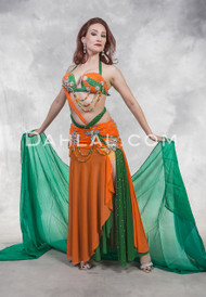 LAYERED LUXURY- Green, Orange and Silver, by Designer Rising Stars