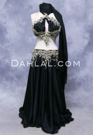 ISLE OF PARADISE- Black, Gold and Silver, Bra Size D/DD-C/D,  by Designer Rising Stars