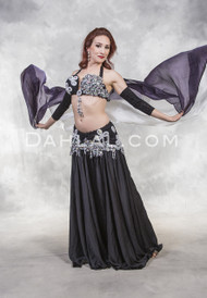 BLACK DIAMOND BAY- Black and Silver, Bra Size C, by Designer Rising Stars