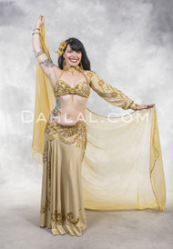 ENRAPTURE- Gold, Bra Size A/B, by Designer Pharaonics of Egypt