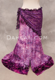 Purple Metallic Lace Ruffled Shawl