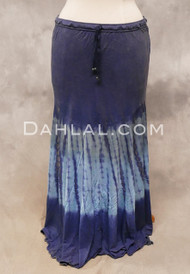 Tie-dyed Navy Skirt