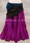 Black and Blue Lace Mini Wrap Skirt