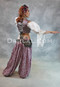 Full Length View of Harem Pant with Ruffled Vest and Peasant Cotton Top