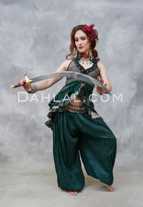 Shown with Silk Brocade Overbust Tail Vest