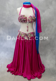 MARRAKESH BOUQUET- Fuchsia, Mauve and Silver, Bra Size B- B/C, by Designer Rising Stars
