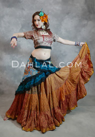 Silk Printed Tribal 25 Yard Skirt