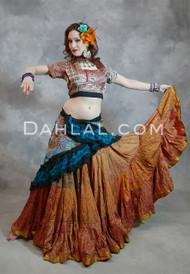 Silk Printed Tribal 25 Yard Skirt