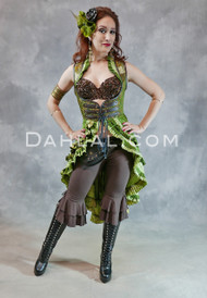 Twilight Tales Silk Brocade Underbust Tail Vest