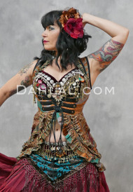 Twilight Tales Silk Printed Underbust Tail Vest