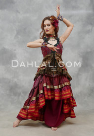 Twilight Tales Silk Printed Overbust Tail Vest