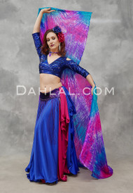 Fuchsia, Turquoise and Purple Tie-Dyed Wings of Isis