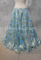Light Blue Printed Sun Goddess Double Chiffon Skirt