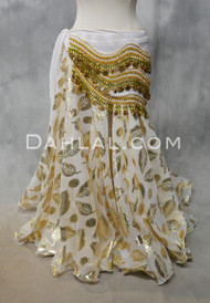 SUN GODDESS Gold Metallic Chiffon Skirts- 3 Colors Available