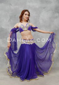 SWEEPING SENSATION -Purple and Gold, Bra Size C #4, by Designer Mamdouh Morise