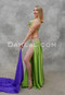 Lime green and lavender Egyptian bellydance costume