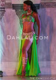 DELTA DREAM- Lime, Lavender & Silver,  Bra Size C- B/C,  by Designer Mamdouh Morise