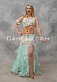MISTS OF AVALON- Mint, Ivory and Silver, Bra Size C-B/C, by Designer Mamdouh Morise