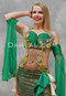 green Egyptian belly dance dress