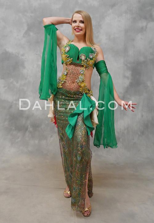 green Egyptian dress