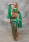 green Egyptian dress