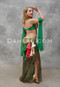 green bellydance dress