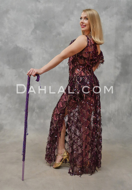 Plum Saidi dress with sequins