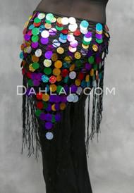 Multi-color Hand Crocheted Paillette Shawl