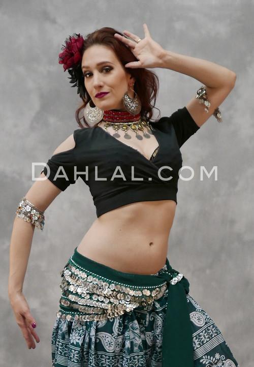 tribal belly dance choli top