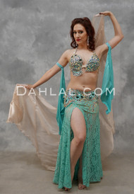 Aquamarine Dreams Egyptian Beaded Costume