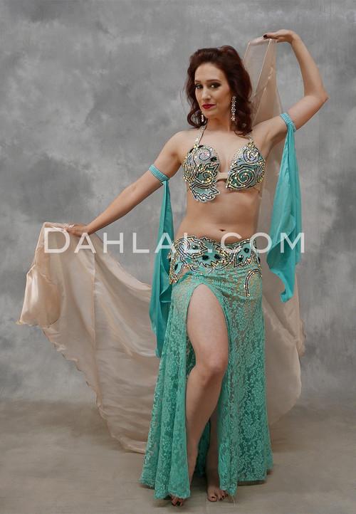 Aquamarine Dreams Egyptian Beaded Costume