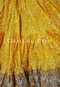 Close up of Yellow Printed Fabric