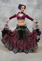Wine Tribal Belly Dance Skirt