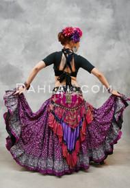 Magenta Printed Cotton Maharani Tribal Skirt
