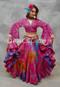 Fuchsia Tribal Belly Dance Skirt