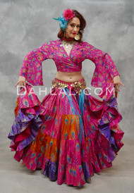 Fuchsia Tribal Belly Dance Skirt