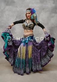 Purple Printed Maharani 25 Yard Tribal Skirt