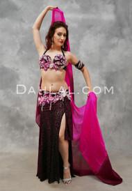 DARK DESIRE- Raspberry, Black, Silver, Fuchsia and Pink, Bra Size B/C- B, by Designer Rising Stars