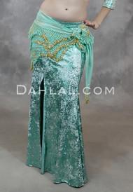 Mint Gilded Velvet Mermaid Skirt