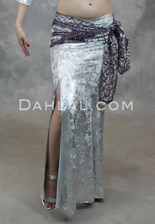 Silver Gilded Velvet Mermaid Skirt