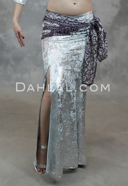 Silver Gilded Velvet Mermaid Skirt
