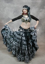 Black Eastern Expressions 25 Yard Tribal Skirt