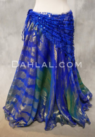 royal blue metallic chiffon skirt